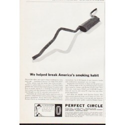 "1963 Perfect Circle Piston Rings Ad ""smoking habit"""