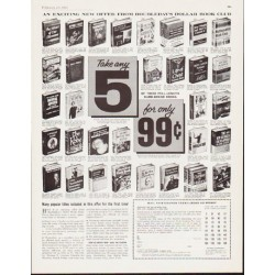 "1963 Doubleday Dollar Book Club Ad ""Take any 5"""