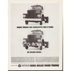 "1963 Dodge Trucks Ad ""Dodge Trucks Are Warranted"""