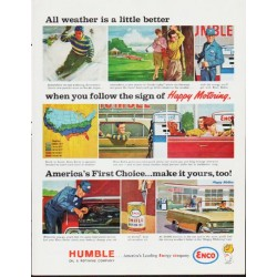 "1963 Humble Oil Ad ""All weather"""