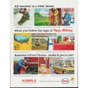 """1963 Humble Oil Ad """"All weather"""""""