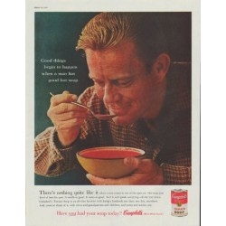 "1961 Campbell's Soup Ad ""when a man has good hot soup"""