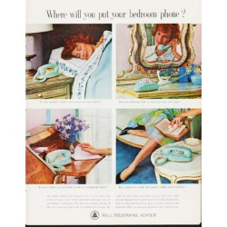 "1963 Bell Telephone System Ad ""bedroom phone"""