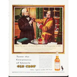 "1963 Old Crow Bourbon Whiskey Ad ""Henry Clay"""