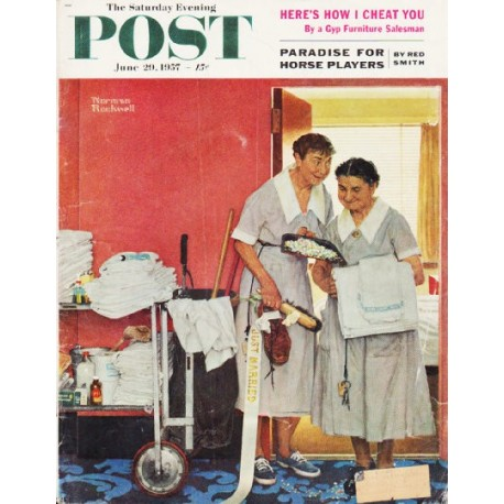 "1957 Saturday Evening Post Cover Page ""Just Married"" ... June 29, 1957"