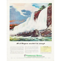 "1957 Fairbanks-Morse Ad ""All of Niagara"""