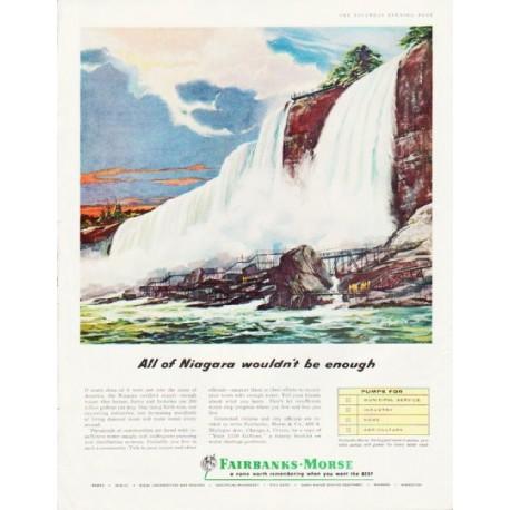 "1957 Fairbanks-Morse Ad ""All of Niagara"""