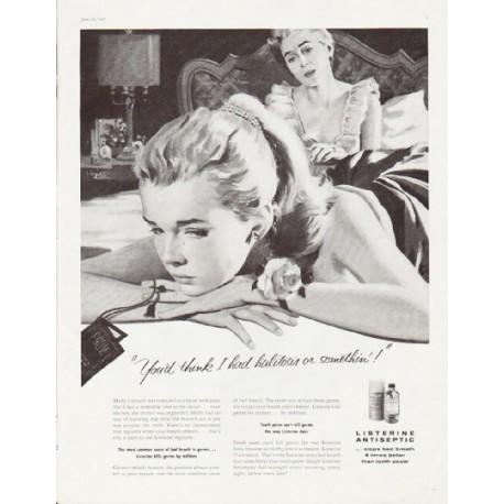"""1957 Listerine Ad """"halitosis"""""""