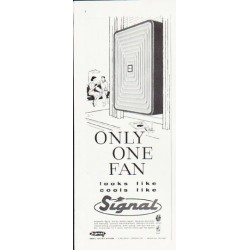 "1957 Signal Air Conditioner Ad ""Only One Fan"""
