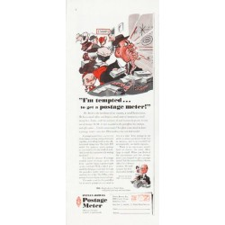 """1957 Pitney-Bowes Ad """"I'm tempted"""""""