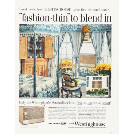 "1957 Westinghouse Ad ""fashion-thin"""