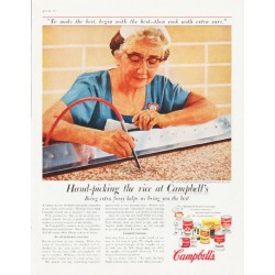 "1957 Campbell's Soup Ad ""Hand-picking the rice"""