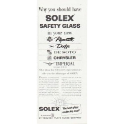 "1957 Solex Safety Glass Ad ""Why you should have Solex"""