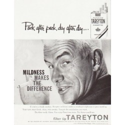 "1957 Tareyton Cigarettes Ad ""Pack after pack"""
