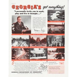 "1957 Georgia Department of Commerce Ad ""Georgia's got everything"""