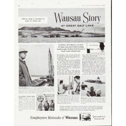 "1957 Employers Mutuals of Wausau Ad ""Great Salt Lake"""