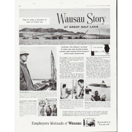 "1957 Employers Mutuals of Wausau Ad ""Great Salt Lake"""