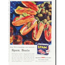 "1957 Spam Ad ""Spam Boats"""