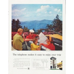 "1957 Bell Telephone System Ad ""enjoy your trip"""