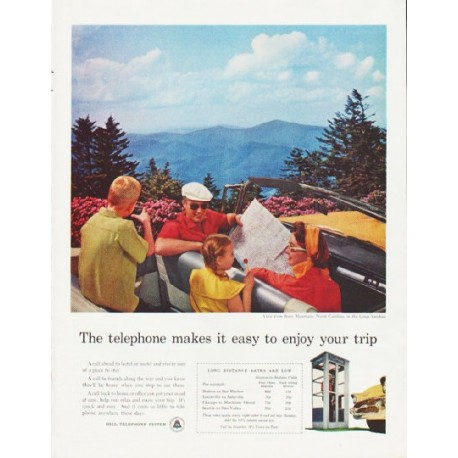 """1957 Bell Telephone System Ad """"enjoy your trip"""""""