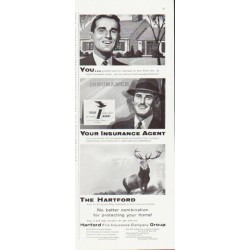 """1957 The Hartford Insurance Ad """"Your Insurance Agent"""""""