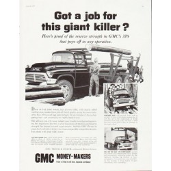 "1957 GMC Trucks Ad ""giant killer"" ... (model year 1957)"