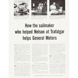 "1957 General Motors Ad ""sailmaker"""