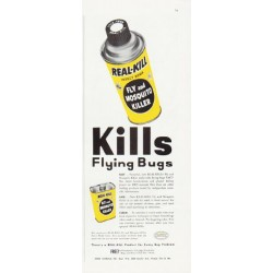 "1957 Real-Kill Ad ""Kills Flying Bugs"""