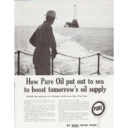 "1957 Pure Oil Ad ""out to sea"""