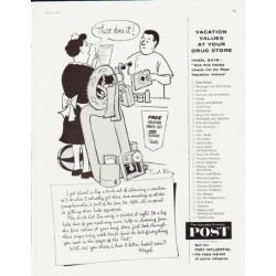 "1957 The Saturday Evening Post Ad ""That does it"""