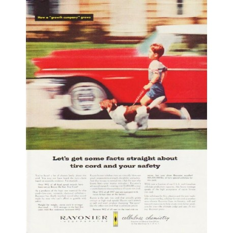 """1957 Rayonier Ad """"Let's get some facts straight"""""""