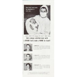 "1957 Brand Names Foundation Ad ""New Jersey nurse"""