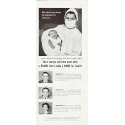 "1957 Brand Names Foundation Ad ""New Jersey nurse"""