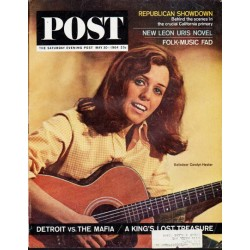 "1964 Saturday Evening Post Cover Page ""Carolyn Hester"" ... May 30, 1964"