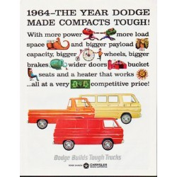 "1964 Dodge Trucks Ad ""1964 -- The Year Dodge Made Compacts Tough!"""
