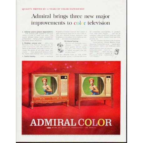 "1964 Admiral Television Ad ""major improvements"""