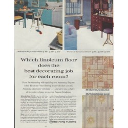 "1961 Armstrong Floors Ad ""Which linoleum floor ...?"""