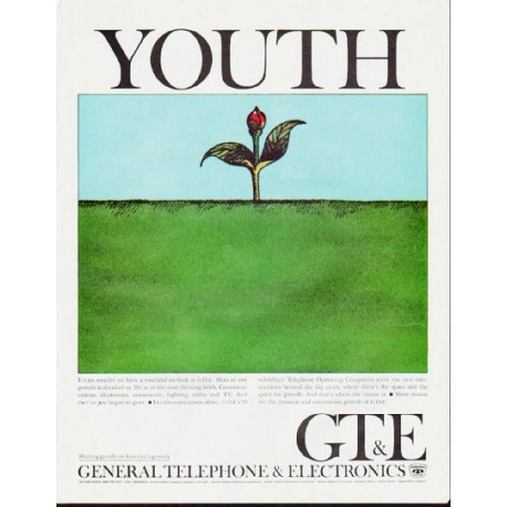 "1964 General Telephone & Electronics Ad ""Youth"""