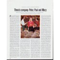 """1964 Peter, Paul and Mary Article """"Three's company"""""""