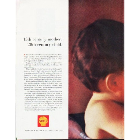 "1964 Shell Oil Ad ""15th century mother"""