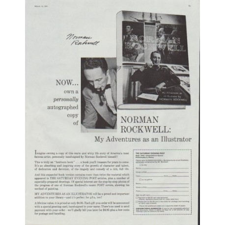 "1961 Norman Rockwell Ad ""My Adventures as an Illustrator"""