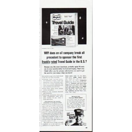 """1964 Mobil Travel Guide Ad """"break all precedent"""""""