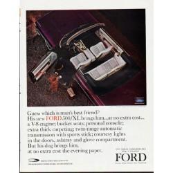 "1964 Ford Galaxie Ad ""man's best friend"" ... (model year 1964)"