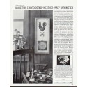 "1964 Curtis Publishing Company Ad """"Weather Vane"" Barometer"""