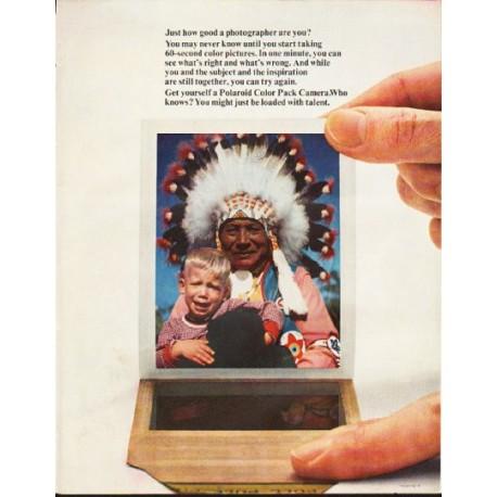 "1964 Polaroid Camera Ad ""Just how good"""