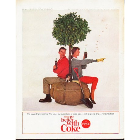 "1964 Coca-Cola Ad ""pause that refreshes"""