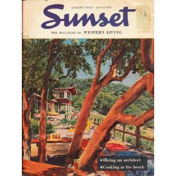 "1953 Sunset Magazine Cover Page ""P. L. Fahrney"" ... August, 1953"