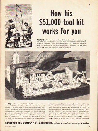 1953 Standard Oil Company Vintage Ad Quot Tool Kit Quot