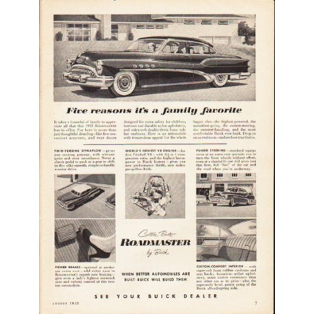 "1953 Buick Ad ""Five reasons"" ... (model year 1953)"
