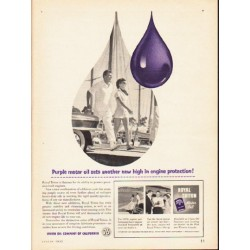 "1953 Royal Triton Ad ""Purple motor oil"""